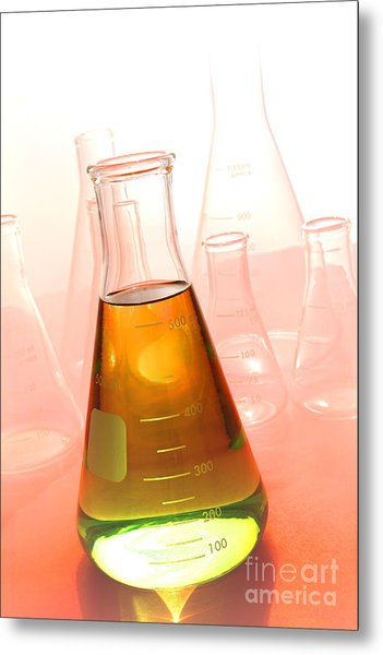 Scientific Experiment In Science Research Lab Metal Print