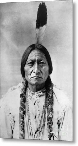 Sitting Bull 1834-1890. To License For Professional Use Visit Granger.com Metal Print