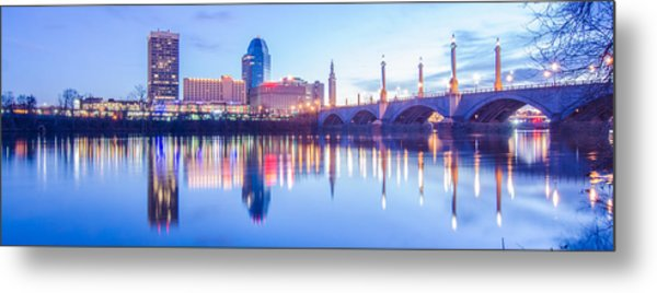 Springfield Massachusetts City Skyline Early Morning Metal Print