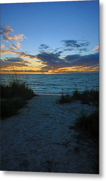 Sunset At Delnor Wiggins Pass State Park Metal Print