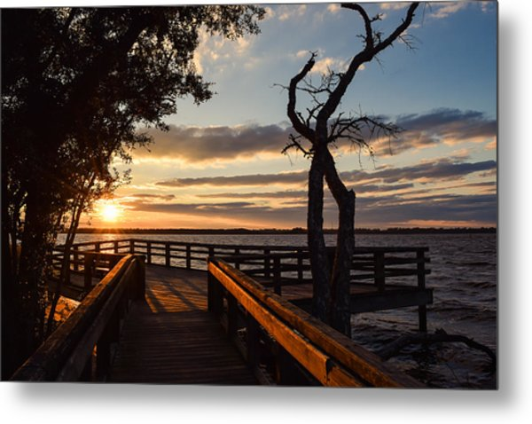 Metal Print featuring the photograph Sunset On The Cape Fear River by Willard Killough III