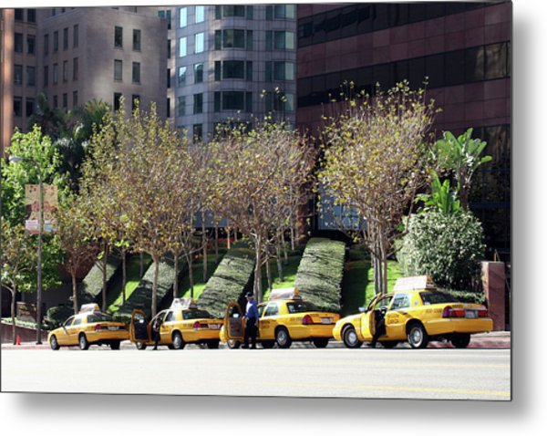 4 Taxis In The City Metal Print