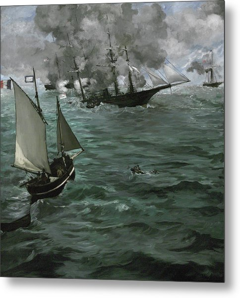 The Battle Of The U.s.s. Kearsarge And The C.s.s. Alabama Metal Print