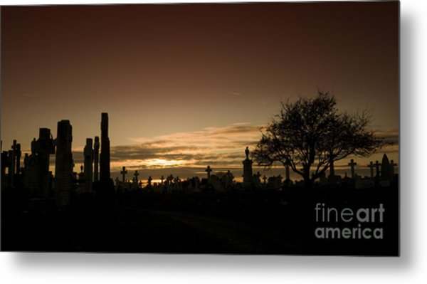 The Graveyard Metal Print by Angel Ciesniarska