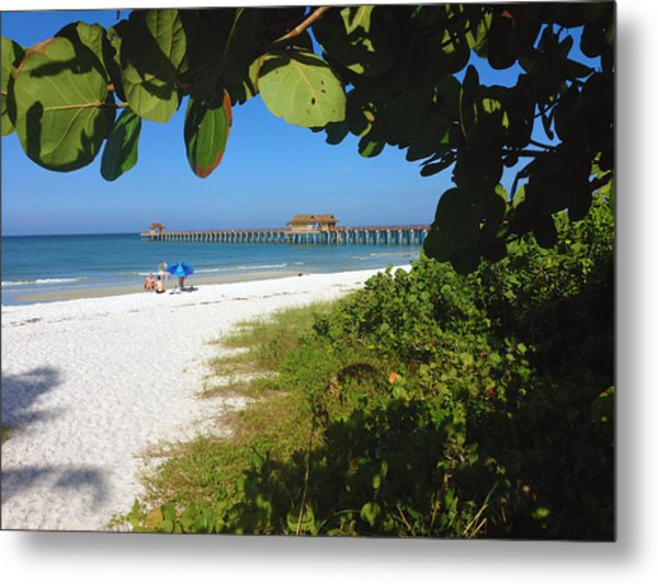 The Historic Naples Pier Metal Print