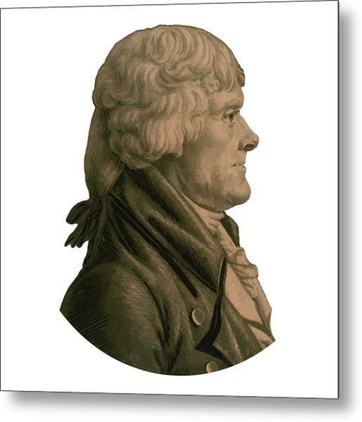 Thomas Jefferson Profile Metal Print