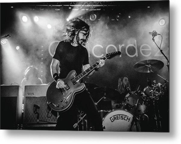 Uk Foo Fighters Live @ Concorde 2 Metal Print