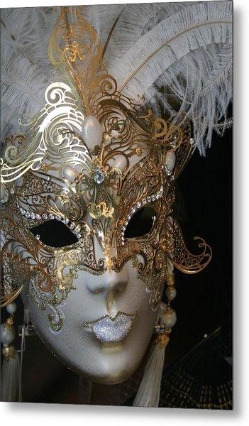 Venetian Mask Metal Print