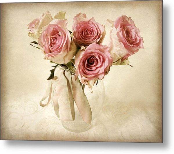 Vintage Bouquet Metal Print
