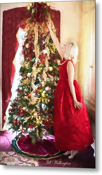 Vintage Val Home For The Holidays Metal Print