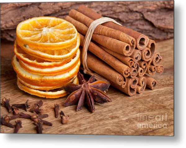 Winter Spices Metal Print