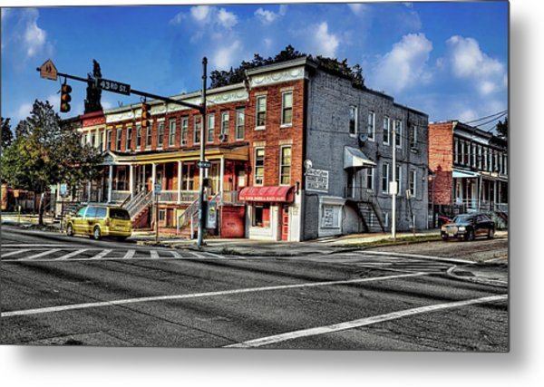 43rd Street And York Road Metal Print