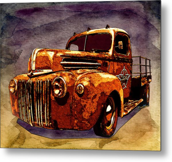 46 Ford Flatbed Redux From The Laboratories At Vivachas Metal Print
