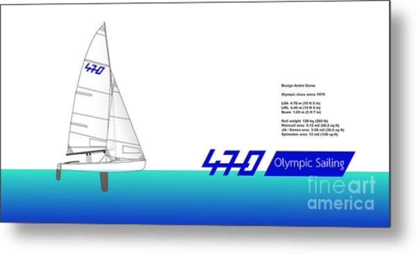 470 Olympic Sailing Metal Print