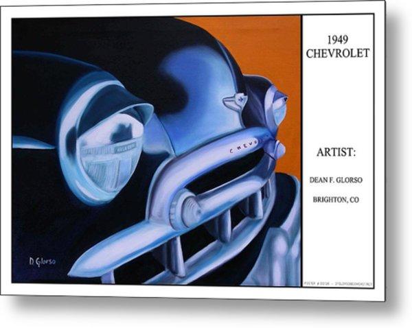 49 Chevy Poster Metal Print