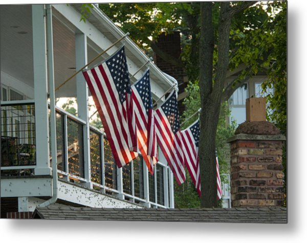 4th Of July Porch Metal Print