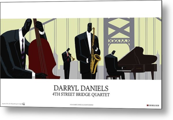 4th Street Bridge Quartet - Poster Style Metal Print