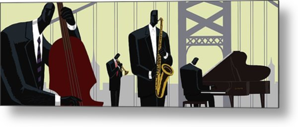 4th Street Bridge Quartet  Metal Print