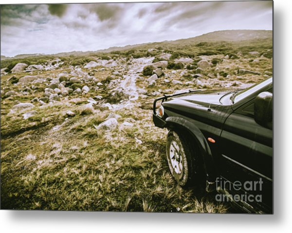 4wd On Offroad Track Metal Print