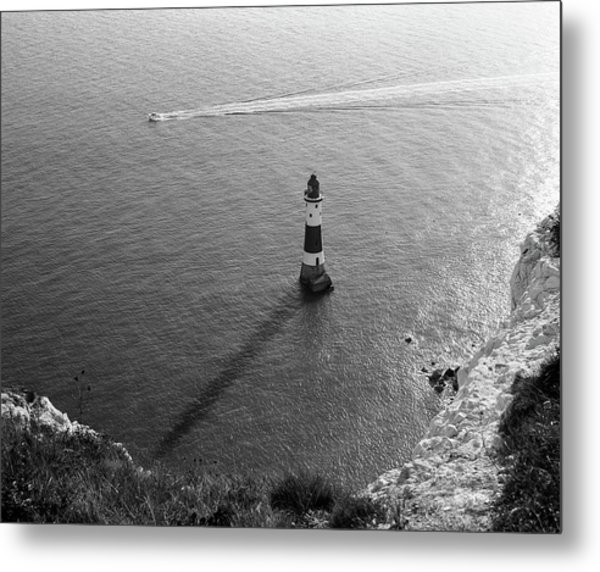 Metal Print featuring the photograph Beachy Head Lighthouse by Will Gudgeon