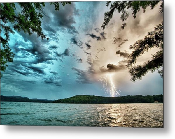 Beautiful Landscape Scenes At Lake Jocassee South Carolina Metal Print
