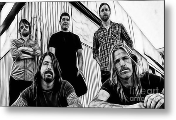 Dave Grohl Foo Fighters Metal Print