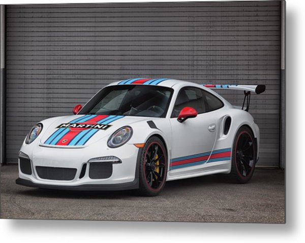 Metal Print featuring the photograph #martini #porsche 911 #gt3rs #print by ItzKirb Photography