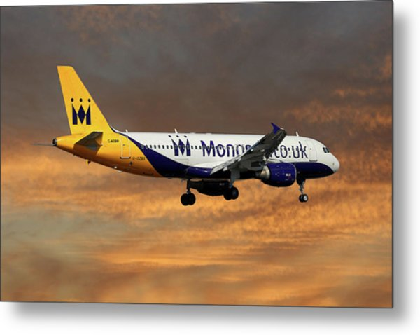 Monarch Airlines Airbus A320-214 Metal Print