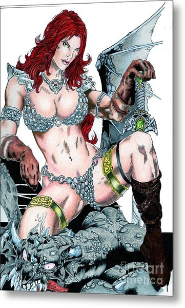Red Sonja Metal Print