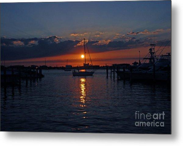 5- Sailfish Marina Sunset In Paradise Metal Print