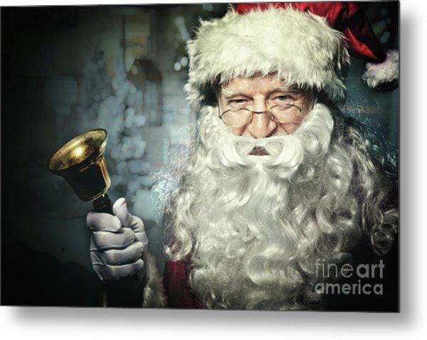 Santa Claus Portrait Metal Print by Gualtiero Boffi