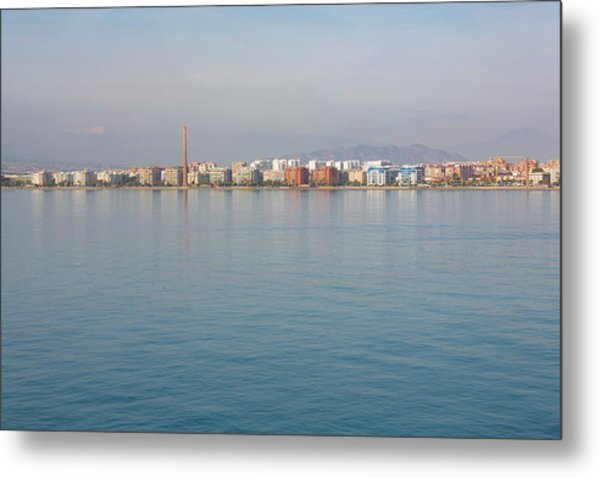 Shoreline Reflections Metal Print