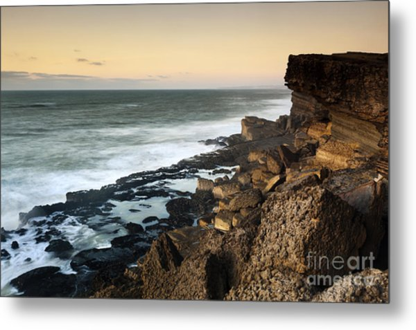 Sunset In The Portuguese Coast Metal Print by Andre Goncalves