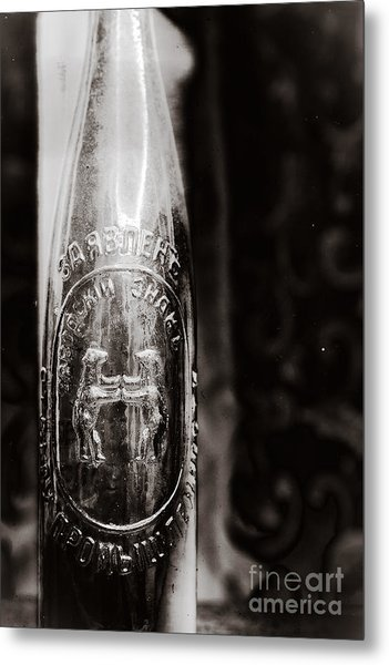 Vintage Beer Bottle #0854 Metal Print