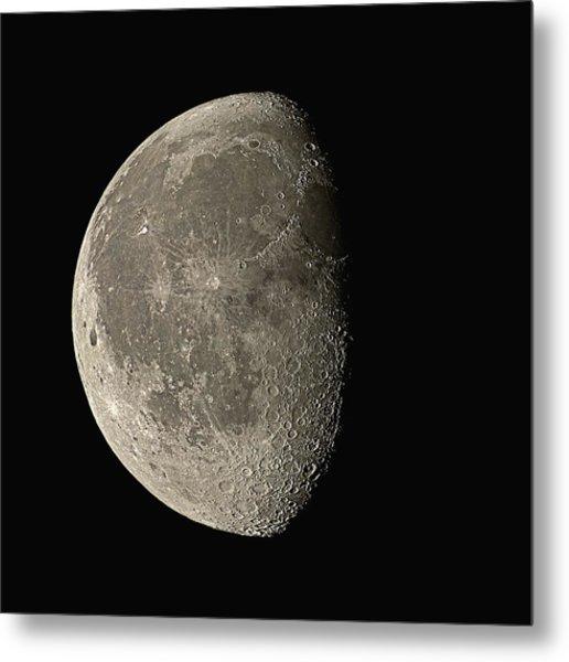 Waning Gibbous Moon Metal Print