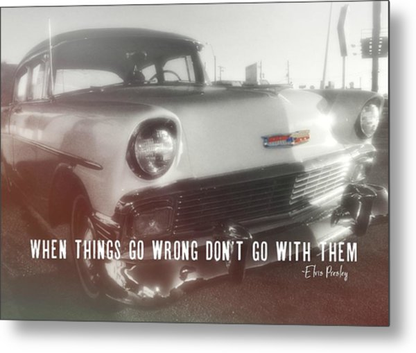 56 Belair In Memphis Quote Metal Print by JAMART Photography