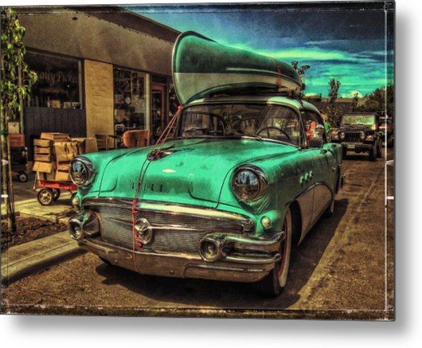 57 Buick - Just Coolin' It Metal Print