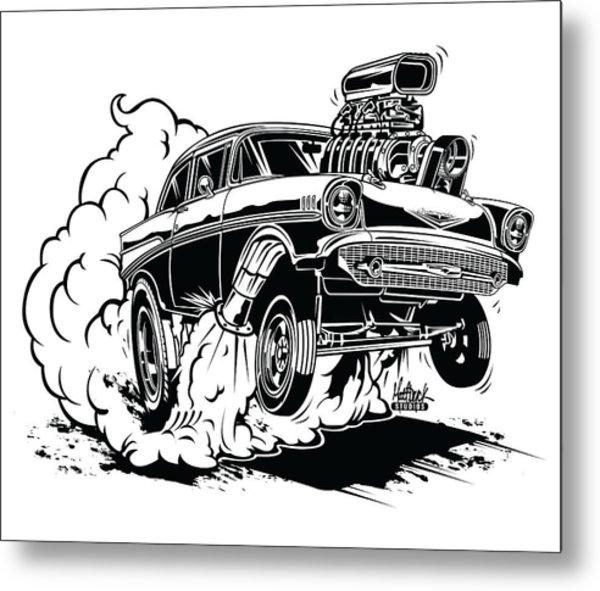 '57 Gasser Cartoon Metal Print