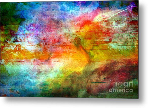 5a Abstract Expressionism Digital Painting Metal Print