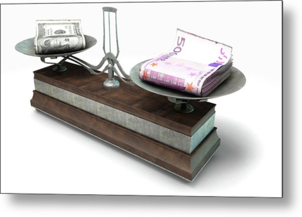 Balance Scale Comparison Metal Print
