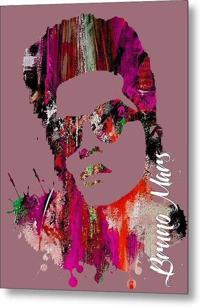 Bruno Mars Collection Metal Print