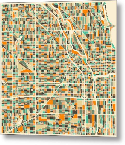 Chicago Map Metal Print
