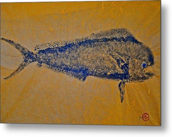 Gyotaku - Mahi Mahi - Dorado - Dolphinfish Metal Print