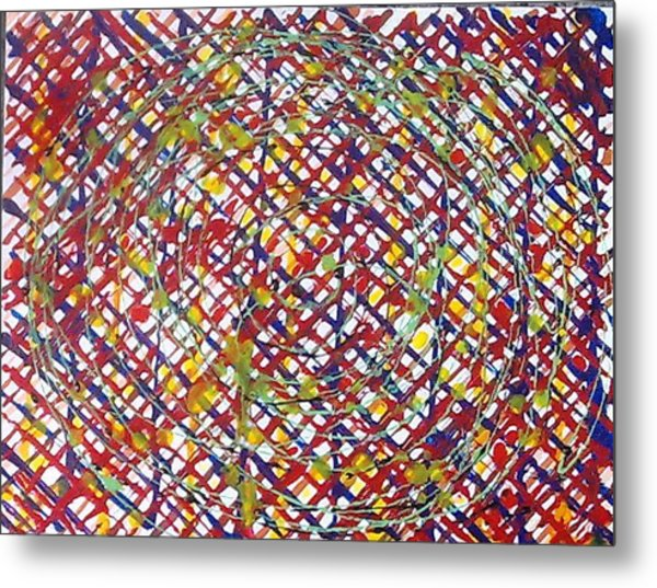 Jugglery Of Colors Metal Print by Baljit Chadha