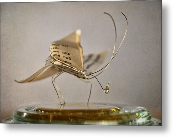 Paper Butterfly Metal Print