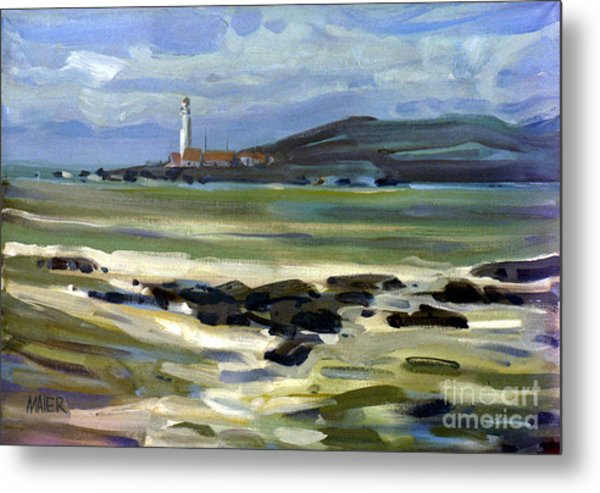 Pigeon Point Light Metal Print by Donald Maier