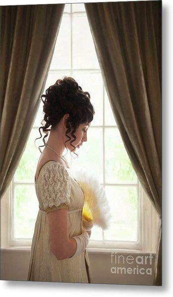 Regency Woman At The Window Metal Print