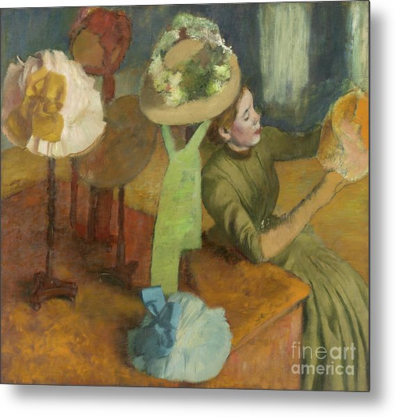 The Millinery Shop Metal Print