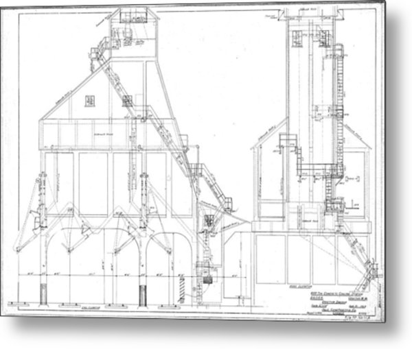 600 Ton Coaling Tower Plans Metal Print