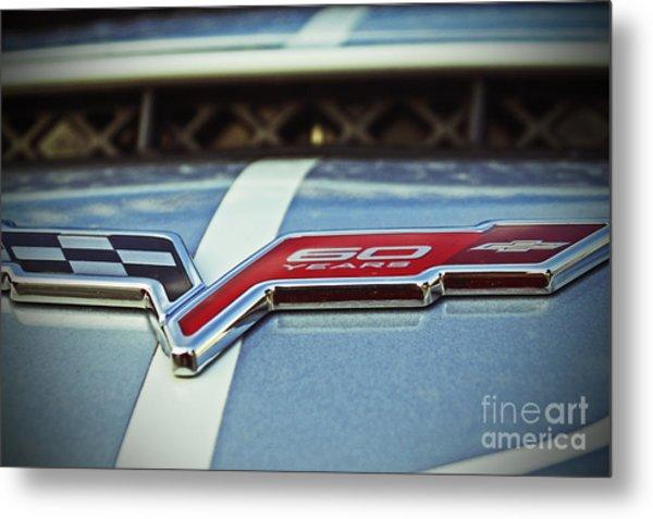 60th Anniversary Corvette Metal Print